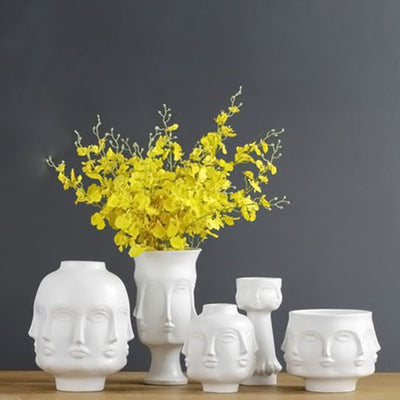 Fornasetti Inspired Planter Pot Flower Vases