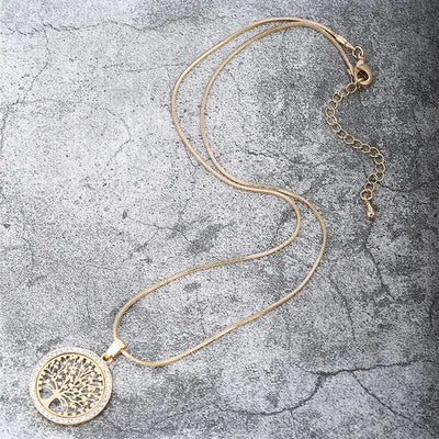 Tree of life Crystal Pendant and Necklace