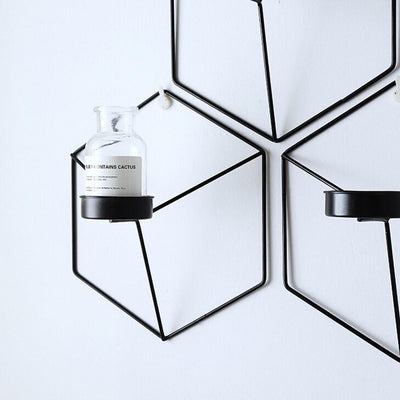 Hexagon Wall Mounted Vase Holder - ThepotplantCo