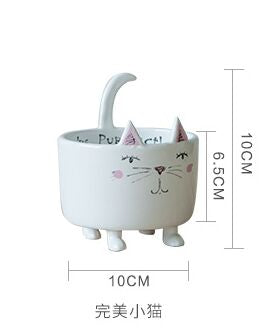 Cute Modern Cat Animal Vase Flower Pot Planter