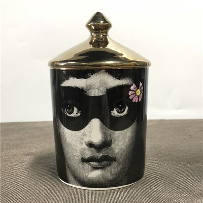 Fornasetti Plant, Sugar, Tea, Candle Container