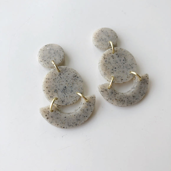 Mini Grace Studs in Granite