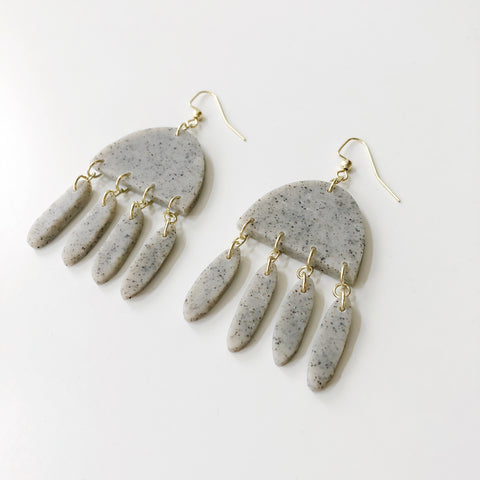 Harlow Earrings in Granite