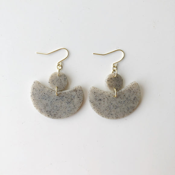 Estée Earrings in Granite