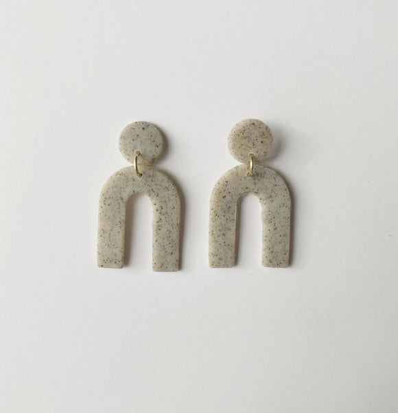 Callie Studs in Granite
