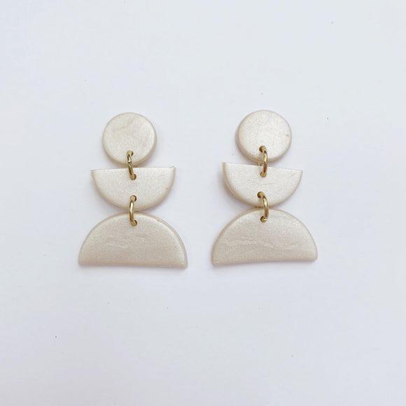Willow Studs in Pearl