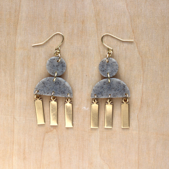 Maren Earrings in Granite
