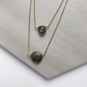 Labradorite Double Stranded Necklace