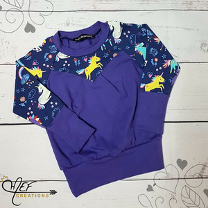 Purple Unicorn Sweat Shirt