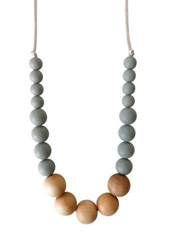 The Landon - Grey Teething Necklace
