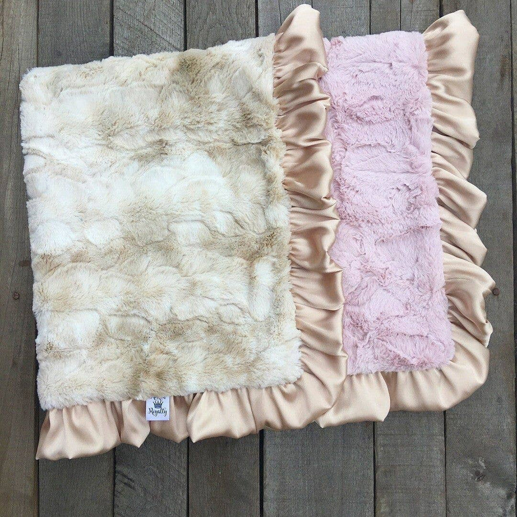 Faux Rabbit Blush Luxe Cuddle Blanket