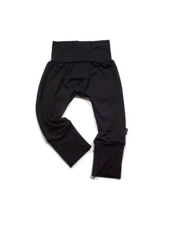 Grow Along Bamboo Joggers- Basic Black