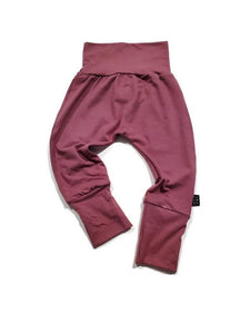 Grow Along Bamboo Joggers- Vintage Rose