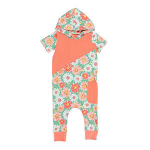 Fall Floral Hooded Romper