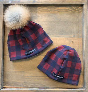 Plaid Pom Toque