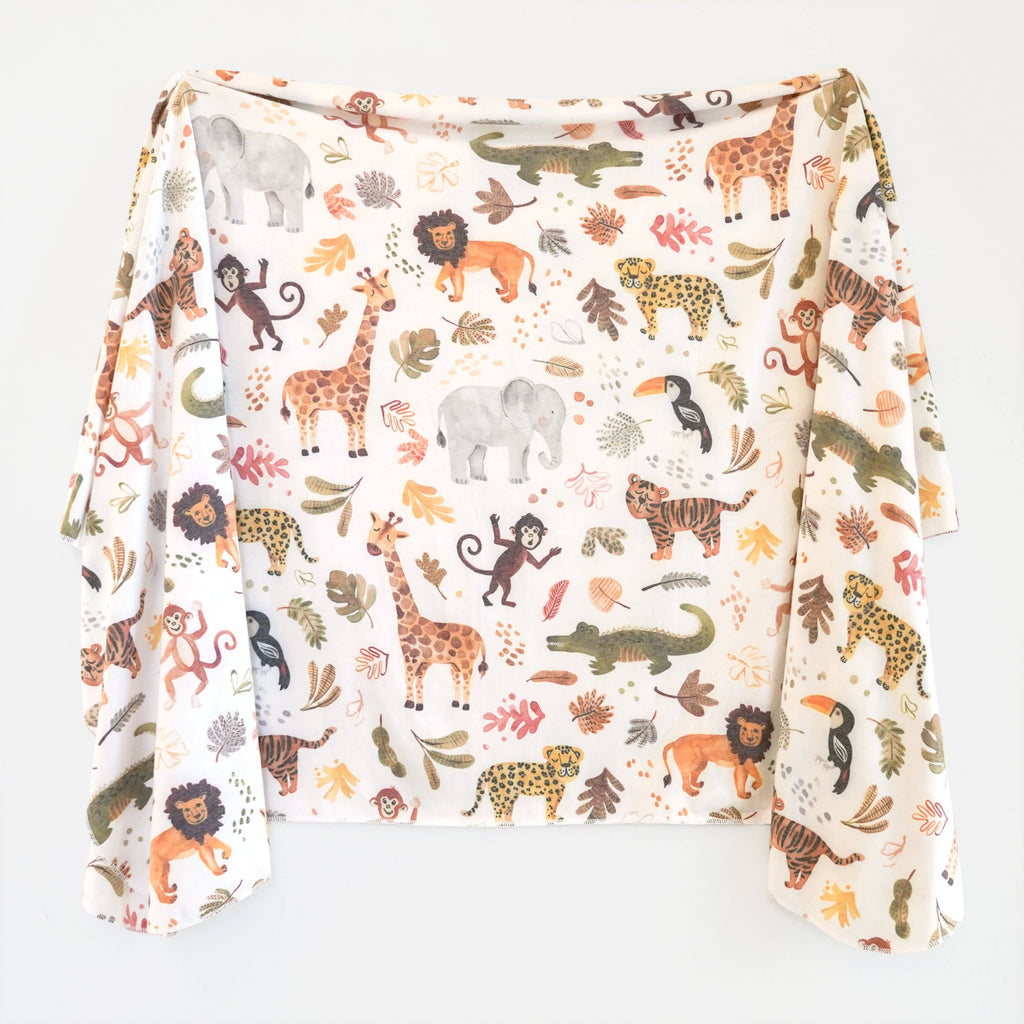 Wild Safari Swaddle Blanket