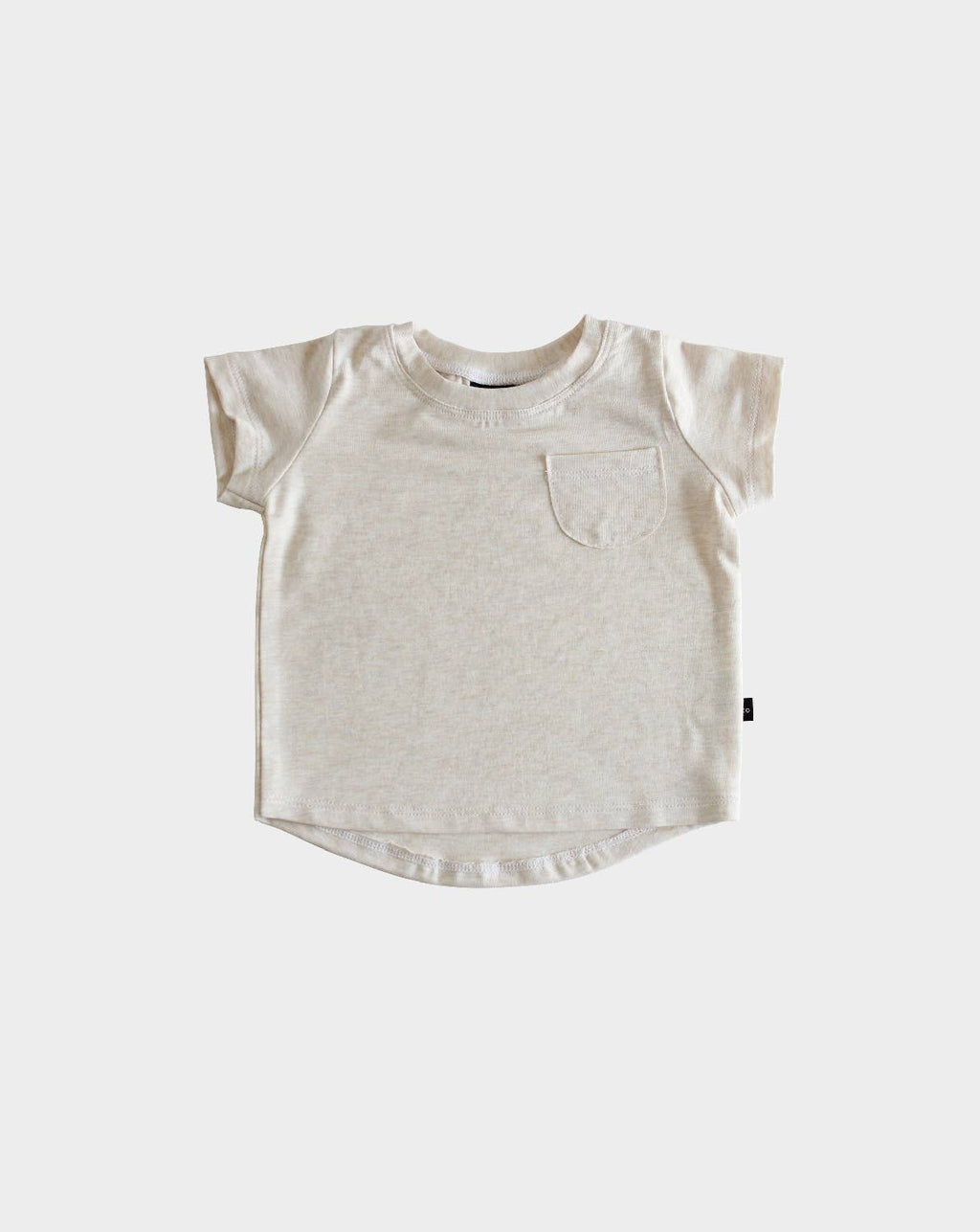 Bamboo Pocket Tee in Almond