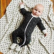 Load image into Gallery viewer, Dusty Blue Bears '2-Way' Zip Romper