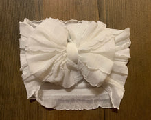 Load image into Gallery viewer, Ruffle headband- White