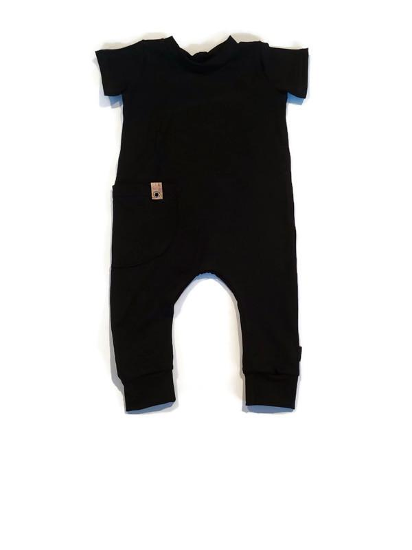 Urban Romper - Basic Black Bamboo