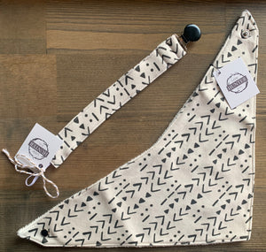 Organic Cotton Bib- Mudcloth, Cream