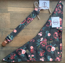 Load image into Gallery viewer, Organic Cotton Bib- Black Madison Floral