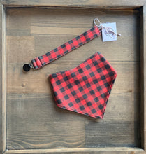 Load image into Gallery viewer, Organic Cotton Bib- Red Plaid