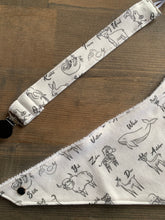 Load image into Gallery viewer, Organic Cotton Bib- ABC Animals