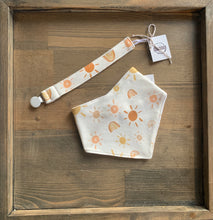 Load image into Gallery viewer, Organic Cotton Bib- Mr. Golden Sun and Rainbows