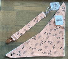 Load image into Gallery viewer, Organic Cotton Bib- Little Sun,Star,Boho Garden in Dusty Pink