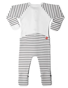 Footie- Stripe Grey