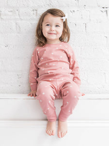 Organic Cruz Jogger - Rose Polka Dot