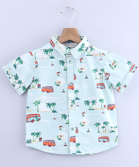 Beach Button Up