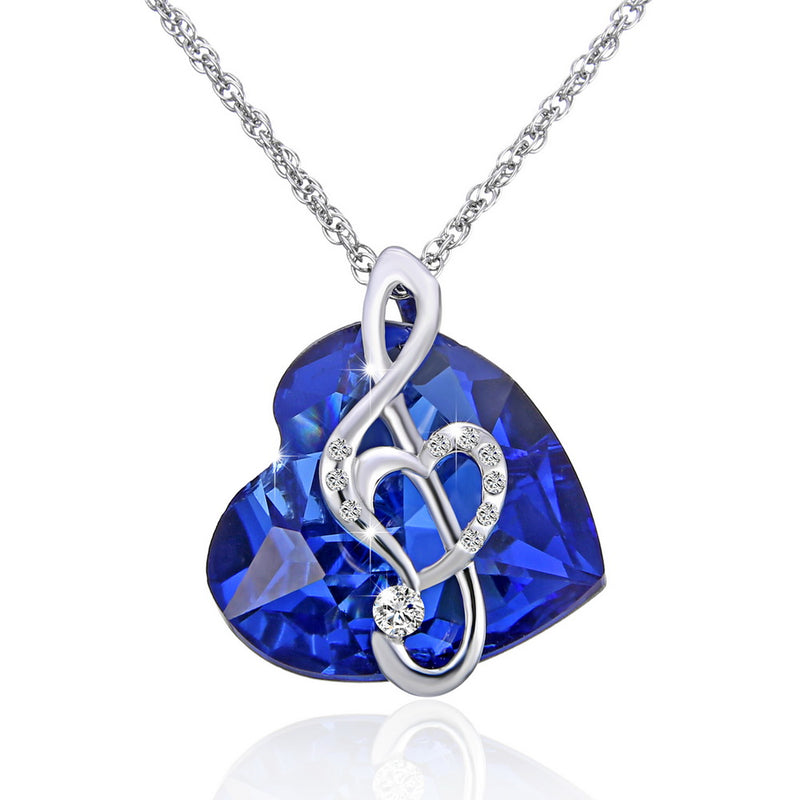 Fashion necklace ocean Heart Jewelry For Women - Vallisia