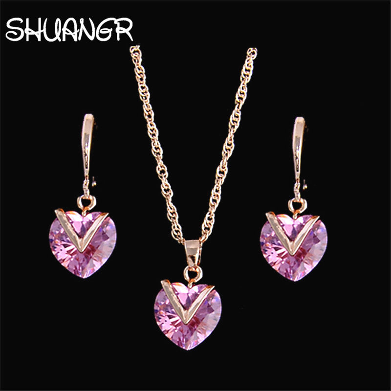 SHUANGR Fashion Zirconia Jewelry Set - Vallisia