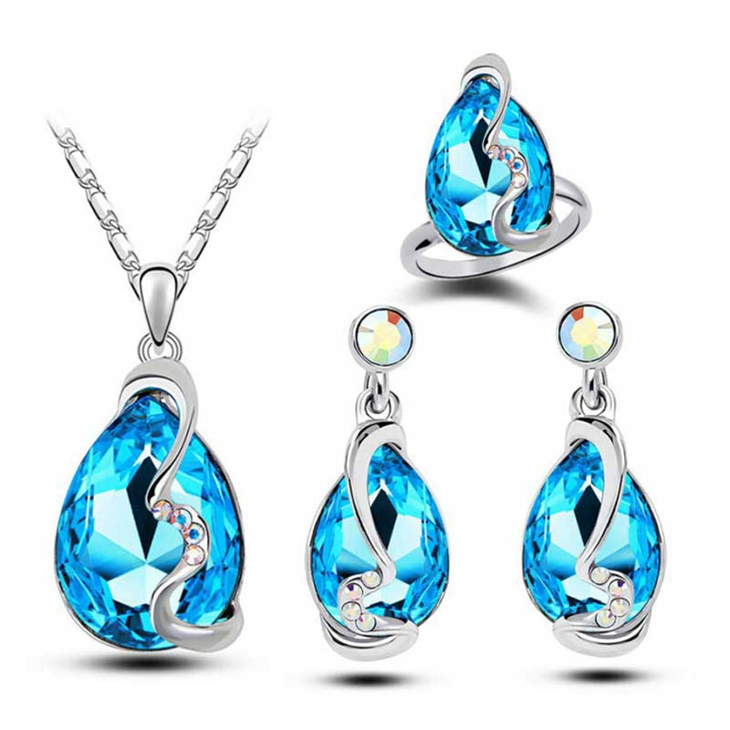 SHUANGR New Elegant  Wedding Jewelry Set - Vallisia