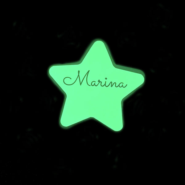 Estrella personalizada glow in the dark