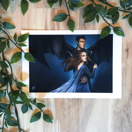 Rhys and Feyre, art by Jo Painter