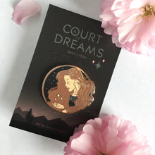 "Load image into Gallery viewer, a court of dreams ""Feyre"" enamel pin"