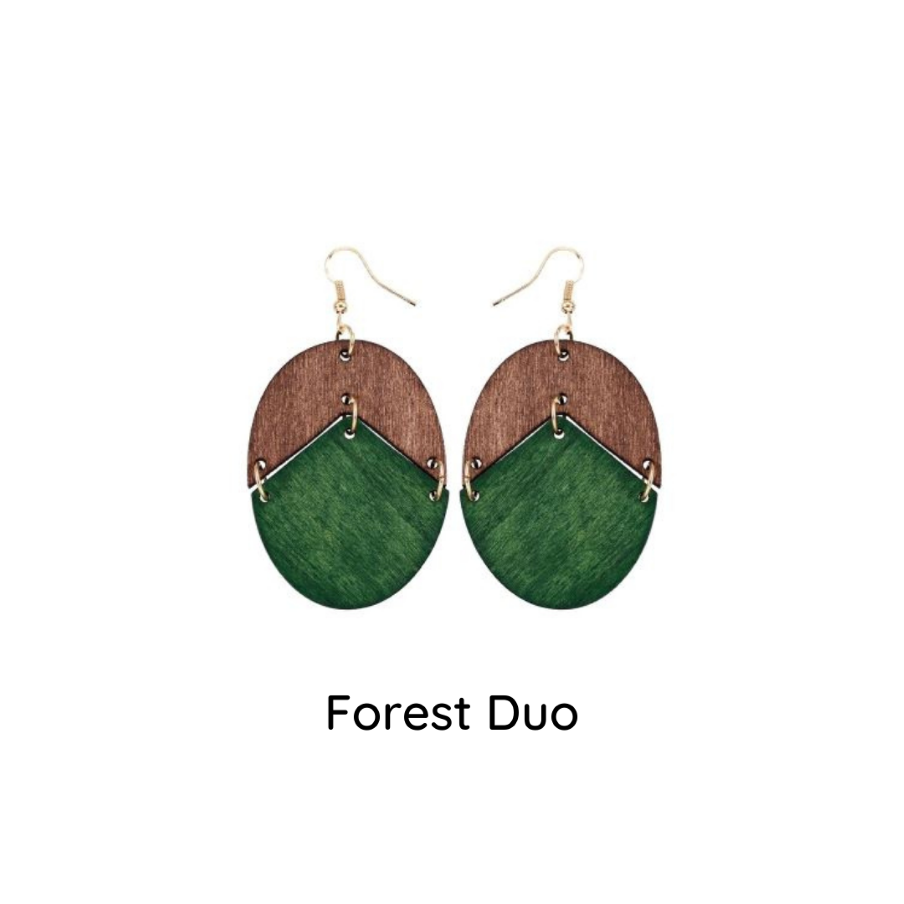 Emerald Wood Earrings