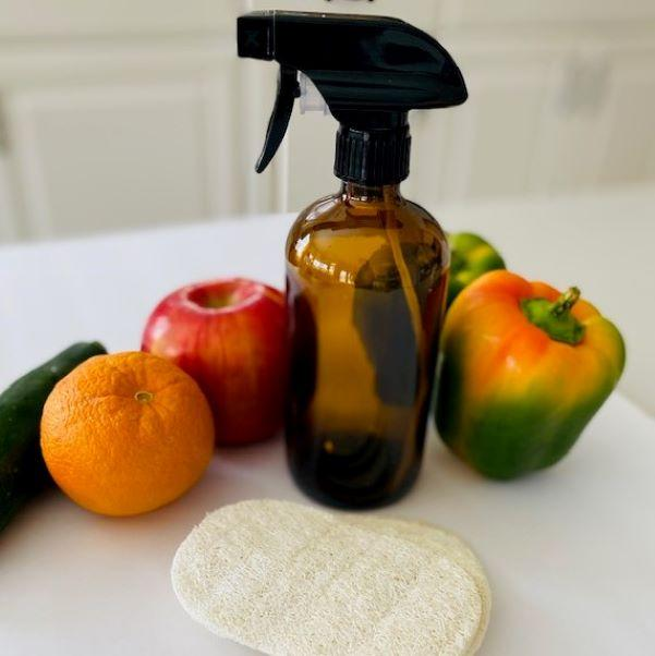Natural Loofah Veggie Scrubber & Spray