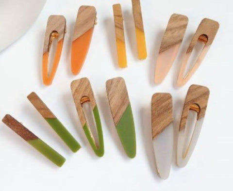 Earth Tone Hair Clips