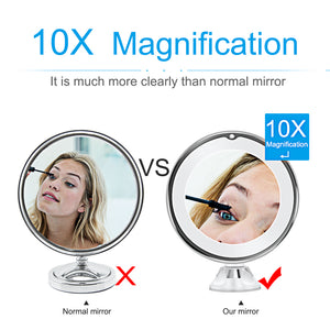 UNOVANITY PORTABLE SUCTION MAKEUP VANITY MIRROR (10X ZOOM)