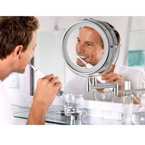 Extendable 3X Magnifying Wall Mounted Mirror