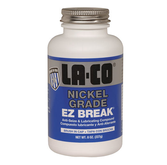 008972 La-Co EZ BREAK Nickel Grade Paste - 16 oz. - Brush in Cap - (Case of 24)