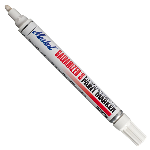 "028785 Markal Galvanizer's Removable Marker - 1/8"" (3 mm) Mark Size - White (Case of 48)"