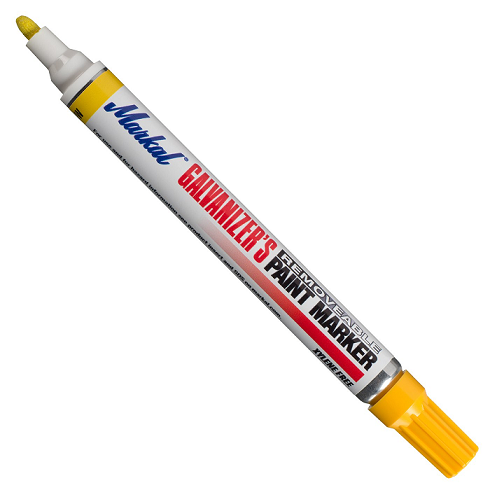 "028786 Markal Galvanizer's Removable Marker - 1/8"" (3 mm) Mark Size - Yellow (Case of 48)"