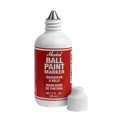 "084622 Markal Ball Paint Marker - 1/8"" (3 mm) Mark Size - Red (Case of 48)"