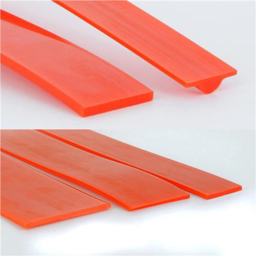"1032143 Fenner Drives Eagle Orange 85 Flat Belting - .125"" w x 1.00"" h - Non-Reinforced - 100ft"