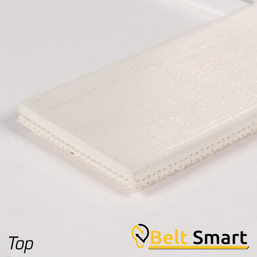 BS001 - #1 Beltservice 2 Ply 15 oz. White Nitrile COS Conveyor Belt